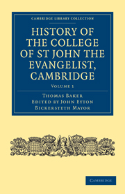 History of the College of St John the Evangelist, Cambridge