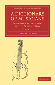 A Dictionary of Musicians, from the Earliest Ages to the Present Time