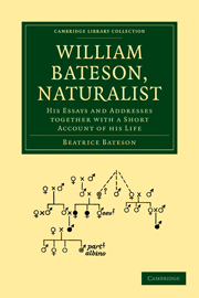 William Bateson, Naturalist