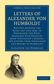 Letters of Alexander von Humboldt
