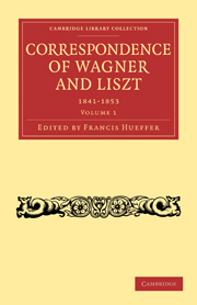 Correspondence of Wagner and Liszt