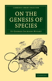 On the Genesis of Species