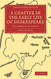 A Chapter in the Early Life of Shakespeare