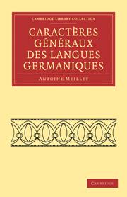 Caractères généraux des langues germaniques