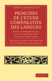 Principes de l'étude comparative des langues