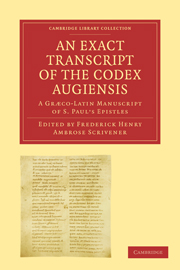 An Exact Transcript of the Codex Augiensis