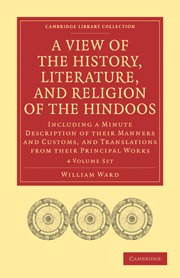 A View of the History, Literature, and Religion of the Hindoos
