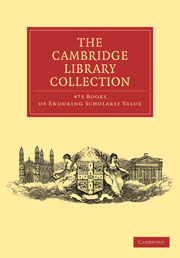 Cambridge Library Collection 475 Set