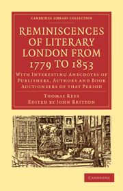 Reminiscences of Literary London from 1779 to 1853