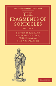 The Fragments of Sophocles