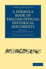 A Formula Book of English Official Historical Documents