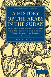 A History of the Arabs in the Sudan