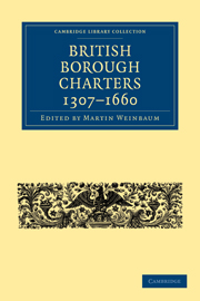 British Borough Charters 1307–1660