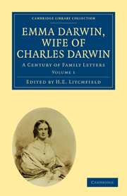 Emma Darwin, Wife of Charles Darwin