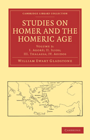 Studies on Homer and the Homeric Age