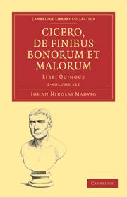 Cicero, De Finibus Bonorum et Malorum