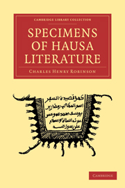 Specimens of Hausa Literature