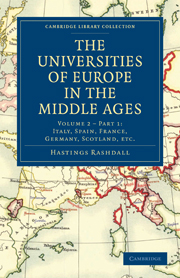 The Universities of Europe in the Middle Ages