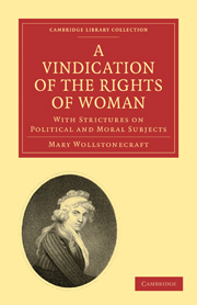 Mary Wollstonecraft Vindication Rights Women