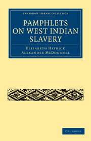 Pamphlets on West Indian Slavery