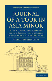 Journal of a Tour in Asia Minor
