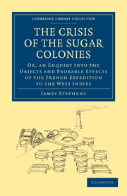 The Crisis of the Sugar Colonies