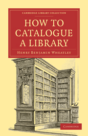 How to Catalogue a Library