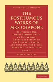 The Posthumous Works of Mrs Chapone