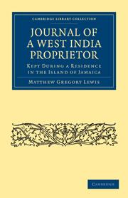 Journal of a West India Proprietor