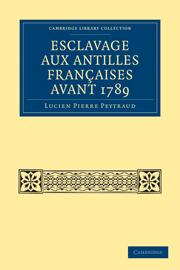 Esclavage aux Antilles Françaises Avant 1789