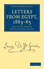 Letters from Egypt, 1863–65