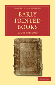 Early Printed Books