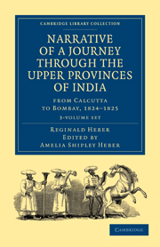 Narrative of a Journey through the Upper Provinces of India, from Calcutta to Bombay, 1824–1825