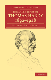 The Later Years of Thomas Hardy, 1892–1928