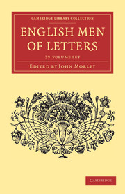 Cambridge Library Collection - English Men of Letters