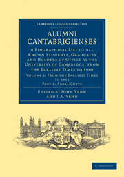 Alumni Cantabrigienses