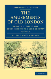 The Amusements of Old London
