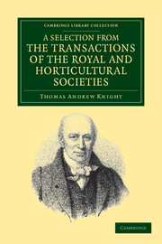 A Selection from the Physiological and Horticultural Papers Published in the Transactions of the Royal and Horticultural Societies