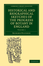 Historical and Biographical Sketches of the Progress of Botany in England