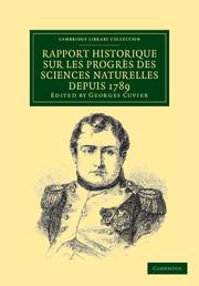 Rapport historique sur les progrès des sciences naturelles depuis 1789, et sur leur état actuel