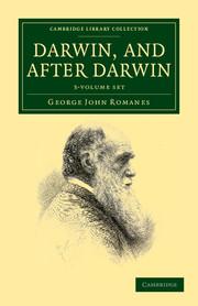 Darwin, and after Darwin