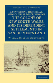 A Statistical, Historical, and Political Description of the Colony of New South Wales, and its Dependent Settlements in Van Diemen's Land