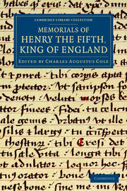 Memorials of Henry the Fifth, King of England