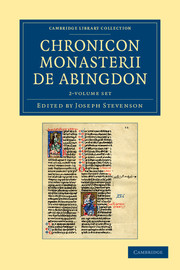 Chronicon monasterii de Abingdon