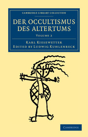 Der Occultismus des Altertums