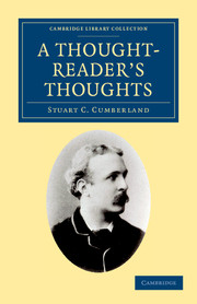 A Thought-Reader's Thoughts