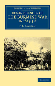 Reminiscences of the Burmese War in 1824–5–6