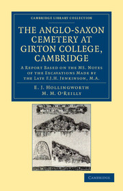 The Anglo-Saxon Cemetery at Girton College, Cambridge