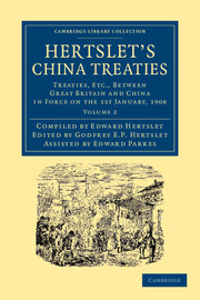 Hertslet's China Treaties
