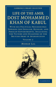 Life of the Amir Dost Mohammed Khan of Kabul
